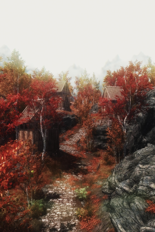 Skyrim - The road to Riften by kaldaar