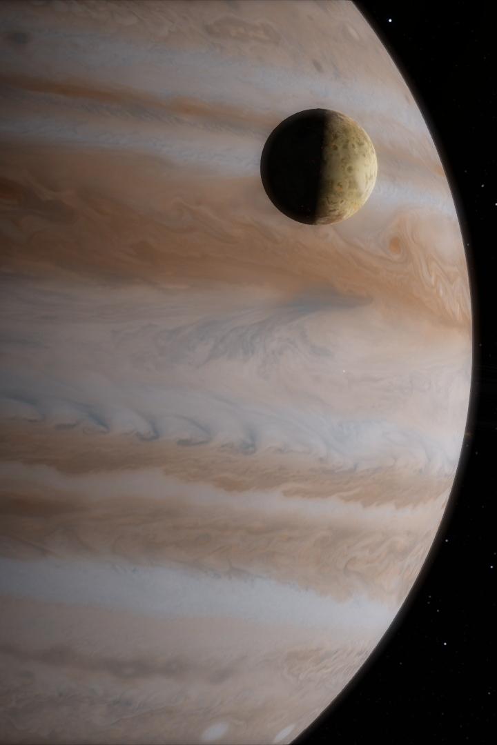Cosmic Snapshot - Jupiter and Io by kaldaar