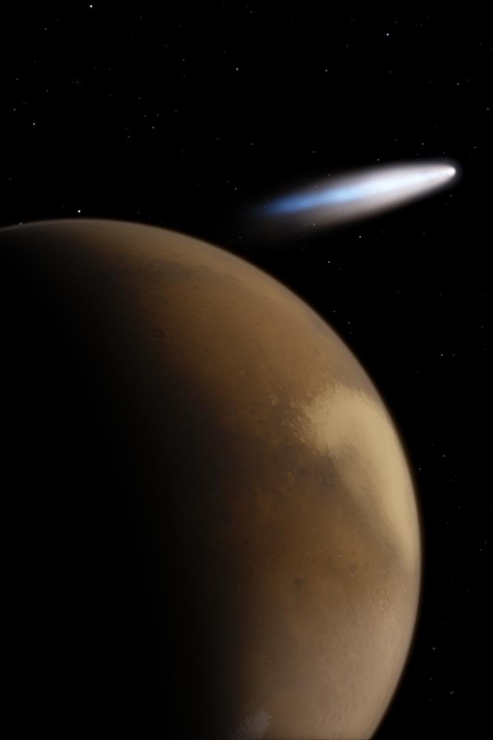 Cosmic Snapshot - Hale Bopp from Mars by kaldaar