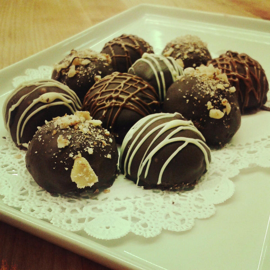 Dark Chocolate Dipped Truffles by samzrs on deviantART