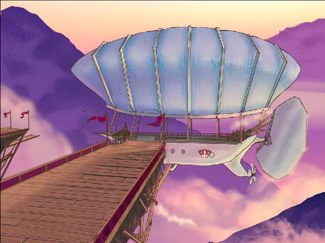 Screencap of Airship Scene