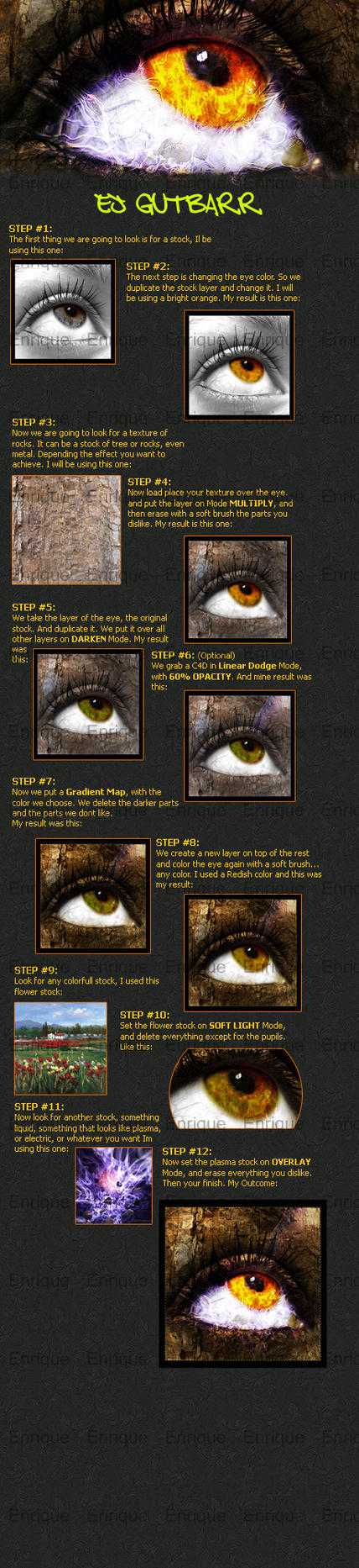 Eye Texture Photomanipulation by EJGUTBARR