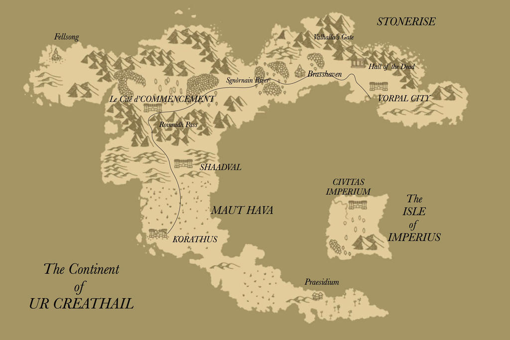 The Continent of Ur Creathail by holmesian1891