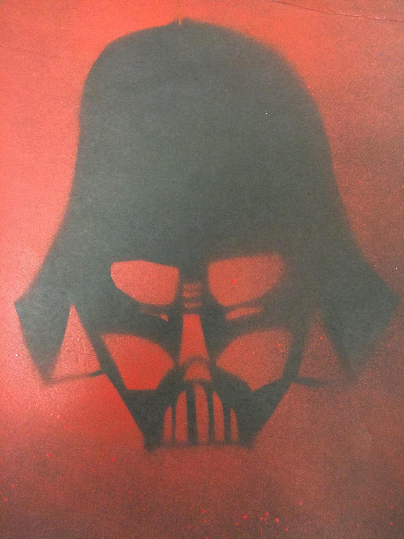 Darth Vader stencil by holmesian1891