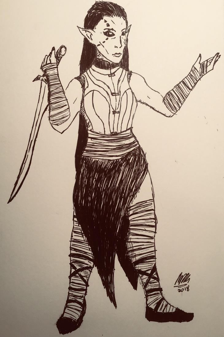 Aravis (training attire) by holmesian1891