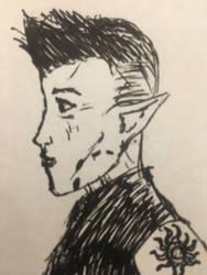 Aravis with short hair by holmesian1891