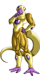 Golden Frieza by LordKizashi