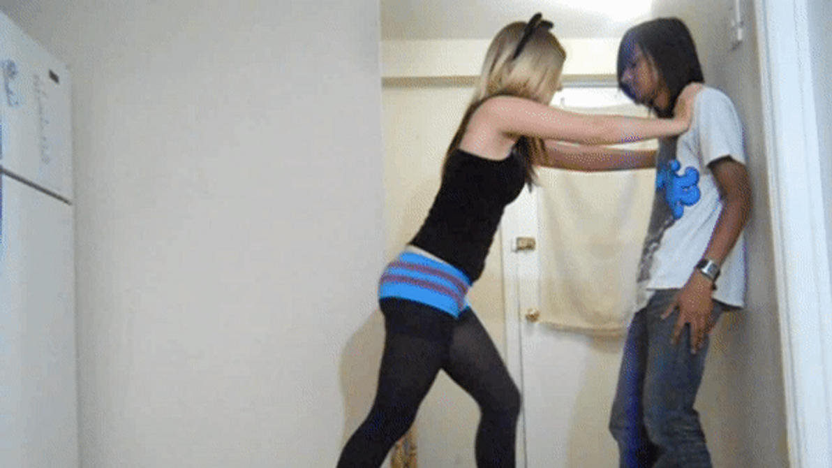 The training of superman ballbusting chastity edging ass