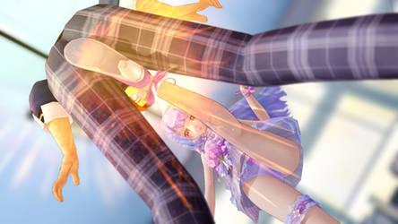 MMD Ballbusting - Fairy Kick!