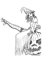 Inktober 16 of 31 (Halloween Witch) by Spencey