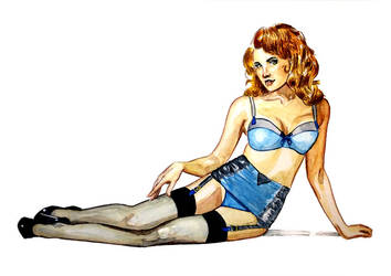 Blue Lingerie by Spencey
