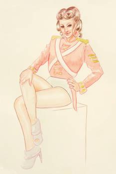 1800s Military Uniform Pin-up Girl