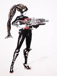Widowmaker Noire (Overwatch) by Spencey