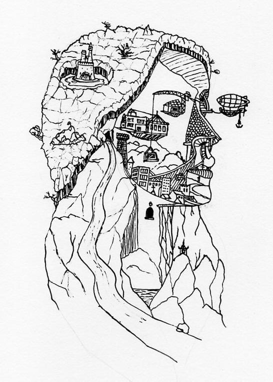 Landscape face by Kradath