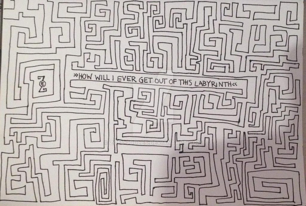Looking For Alaska Labyrinth: How Will I Ever Get Out Of This Labyrinth! By Zoedoodles