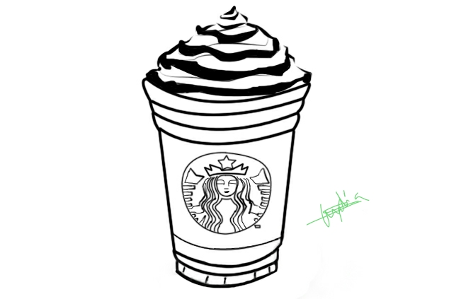 Starbucks Outline by Lylisima on