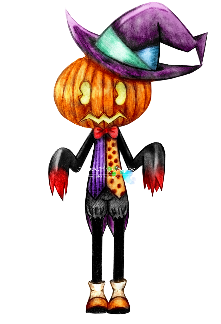 Max Citrouille the Halloloid by MiikuuMcFluffybutt