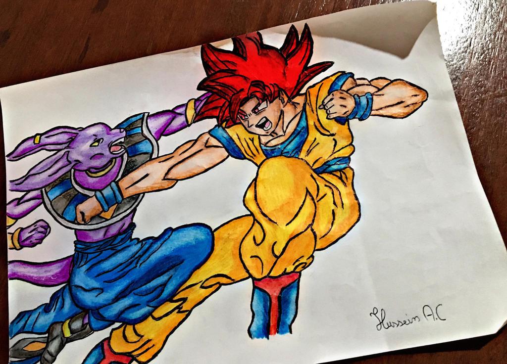 Goku Vs Bills Fan Art By Husseinac97 On Deviantart