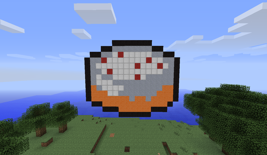Minecraft Cake Pixel Art 3d