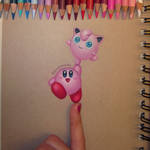 Kirby caught a Jigglypuff drawing