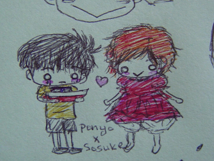 Ponyo and Sosuke by aiaoicho