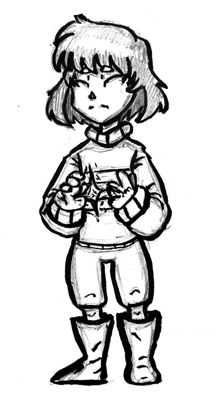 Frisk Fru Sketch by WereWolfGirl231