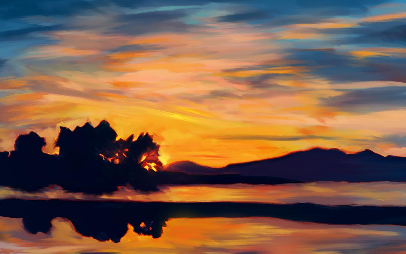 Magenta Sunset by EliteJohan