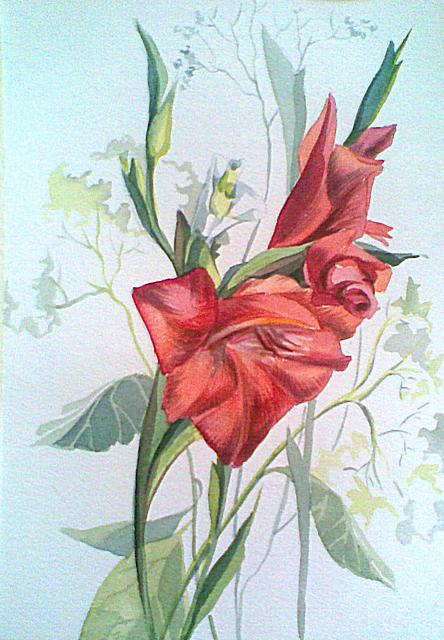 Gladiolus Flower Painting