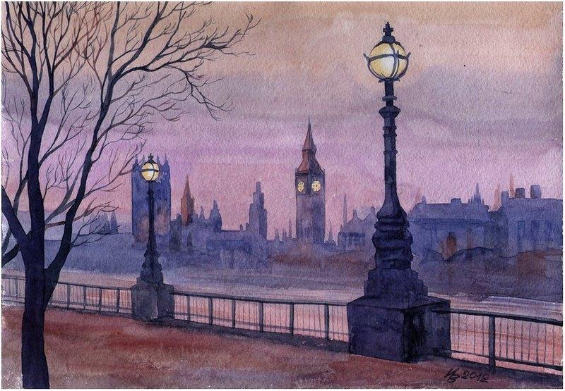 embankment in the purple color by kosharik69