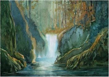 waterfall by kosharik69