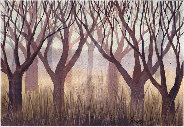 Trees in the fog by kosharik69