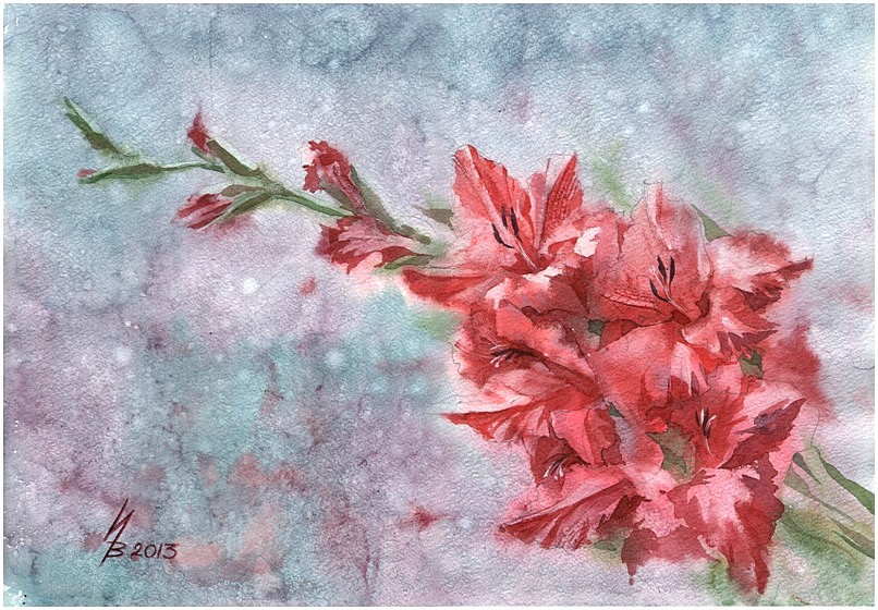 red gladiolus by kosharik69 on DeviantArt