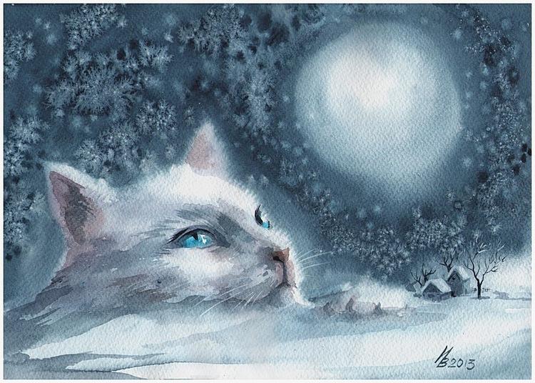 winter moon by kosharik69