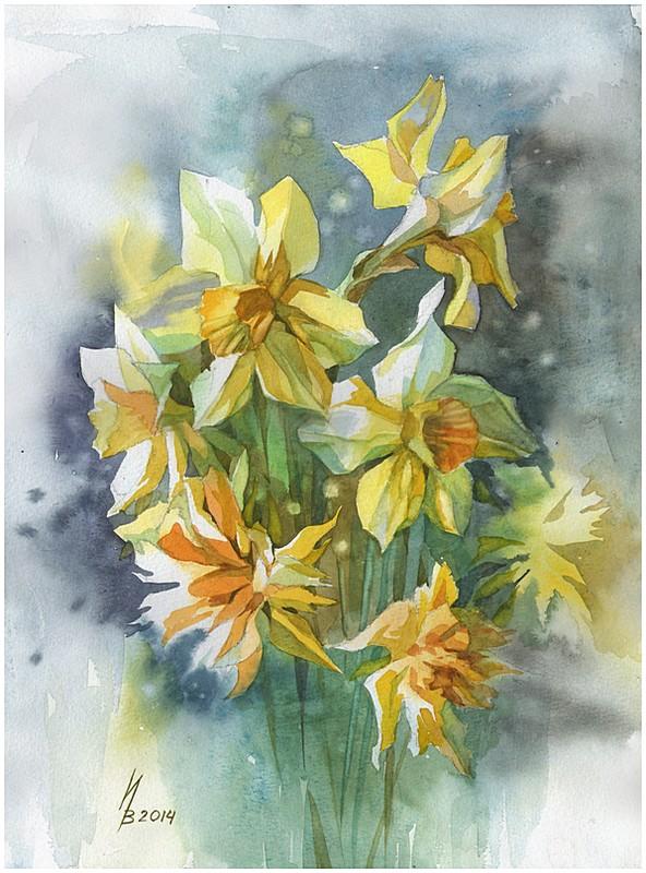 yellow daffodils by kosharik69