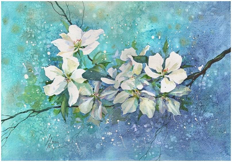 Flowering branch by kosharik69