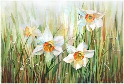 Daffodils in the grass by kosharik69