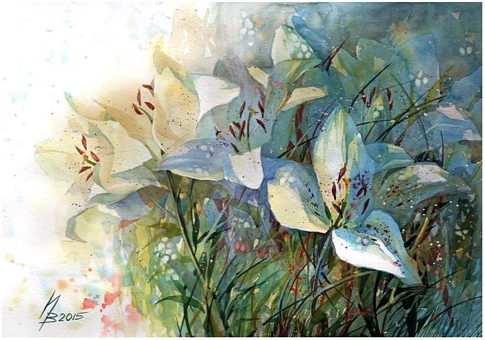 white lily by kosharik69