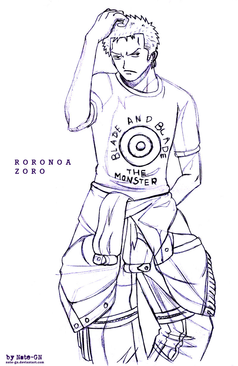 Roronoa Zoro sketch by Nate GN