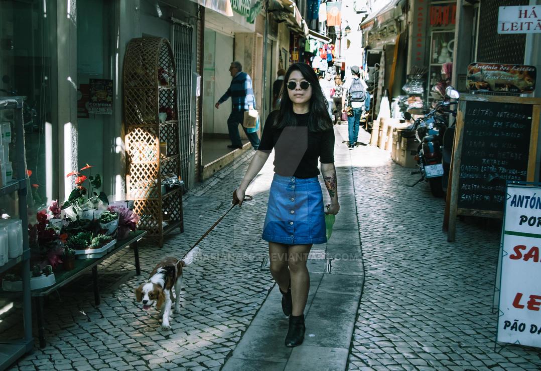 walking the dog by Mariana505