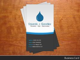 Plumber Business Card by krugonN