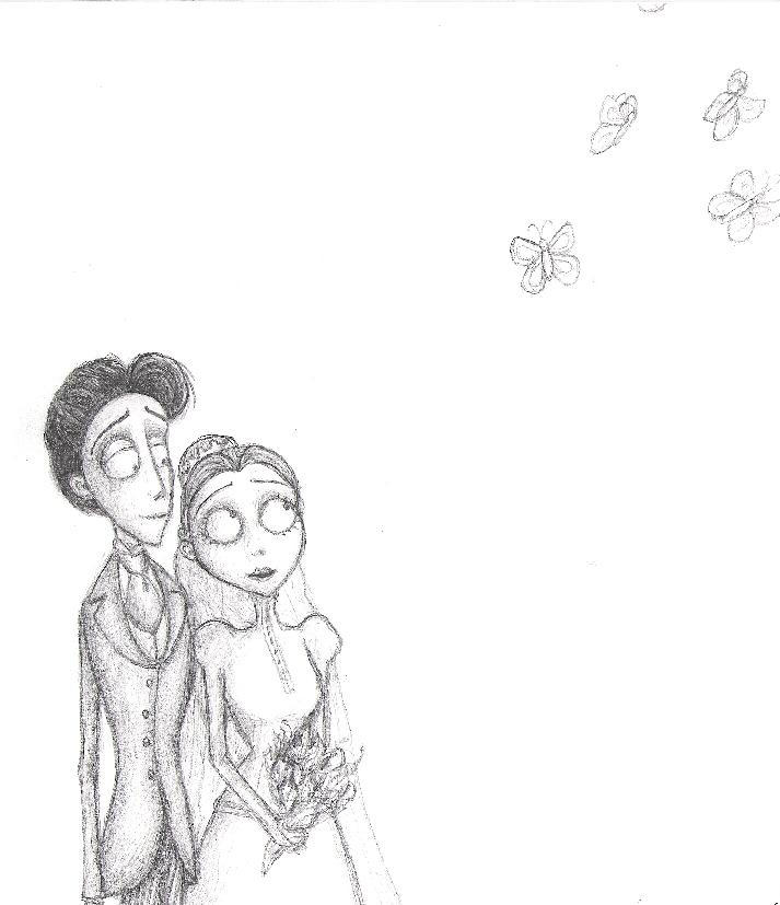 Corpse Bride Drawing Step By