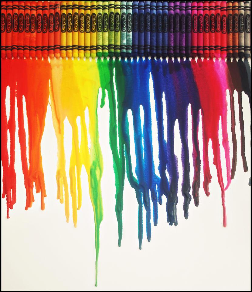 rainbow crayons by hakukamizaki on deviantart