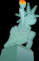 Pony Statue of Liberty by SirCxyrtyx