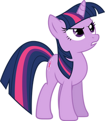 Twilight looking at something with determination by SirCxyrtyx