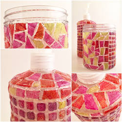 Soap dispenser and toothbrush container