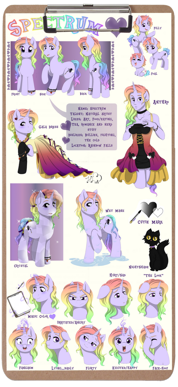 Spectrum Official Reference sheet by Art-forArts-Sake