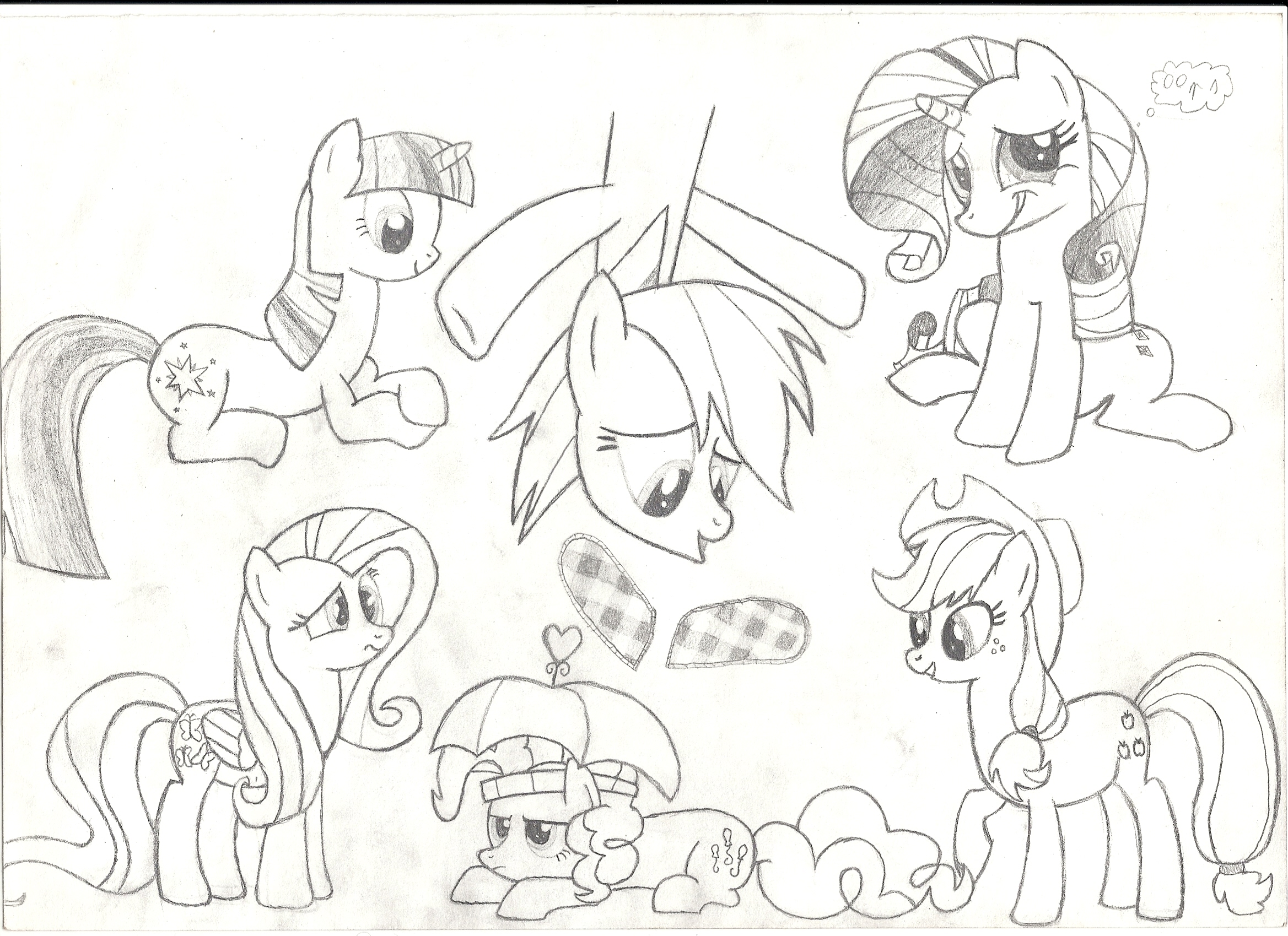 Mah pony drawing attempts Mlp_fim_characters_sketch_2_by_rohulk2008-d4axoew