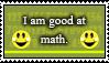 I am good at math (stamp) by yellowshinygoldfish