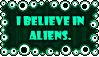 I believe in aliens stamp by yellowshinygoldfish