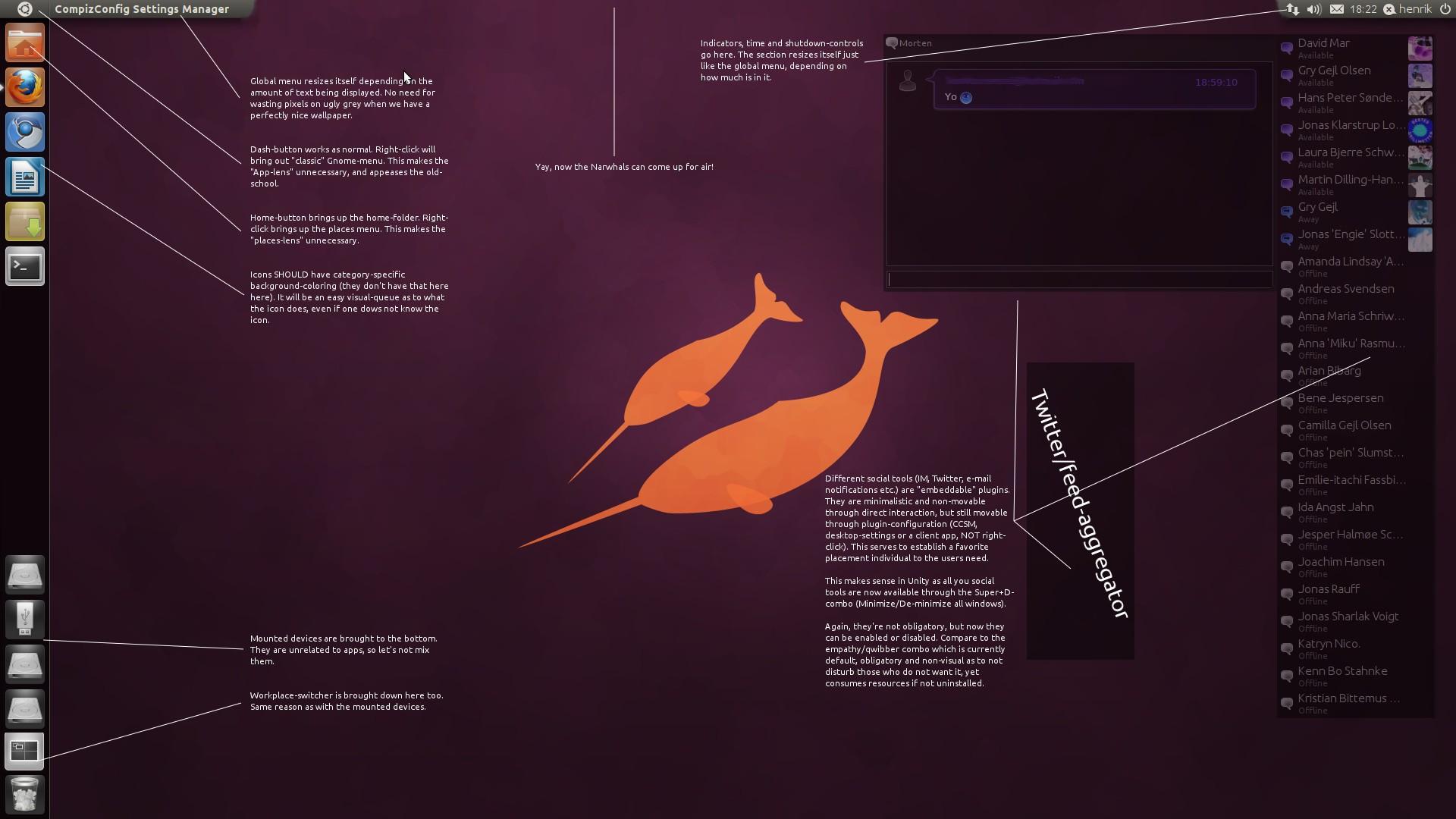 Ubuntu Unity Mockup by  Ubuntu Unity Wallpaper